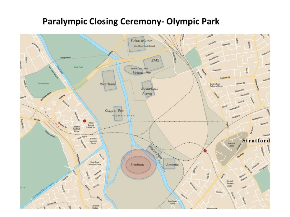 Map Paralympics Closing Ceremony