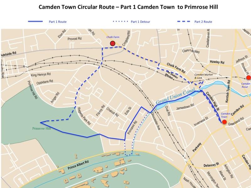 Maps Camden route part 1