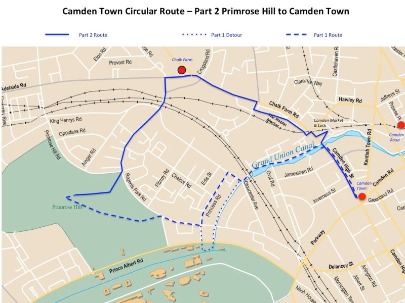 Maps Camden town circular route part 2