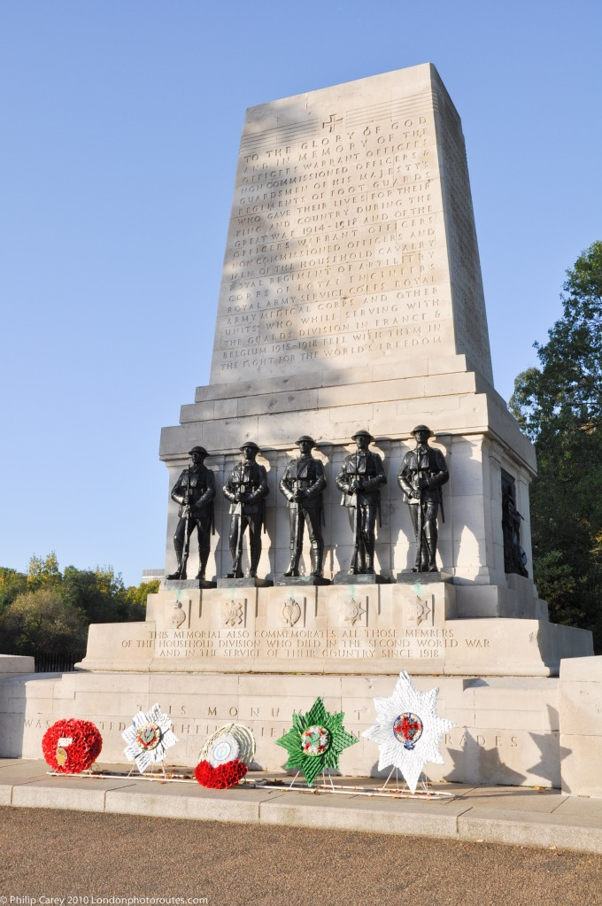 The Guards Memorial, designed by the sculptor Gilbert Ledward