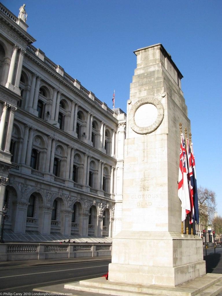 Cenotaph along Whitehall