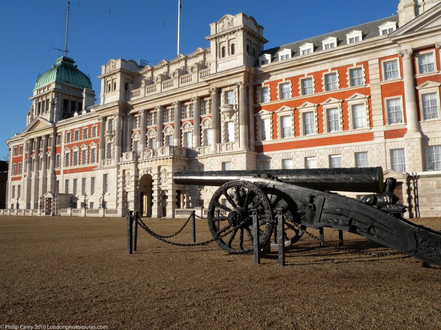 Turkish Cannon - Captured in Egypt in 1801 and the Old Admiralty Office