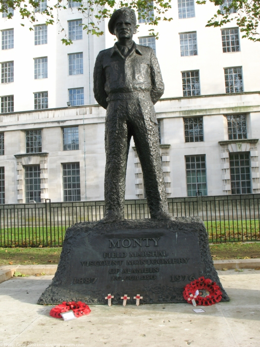 "Field Marshal Bernard Law Montgomery, 1887 – 1976), often referred to as ""Monty"","