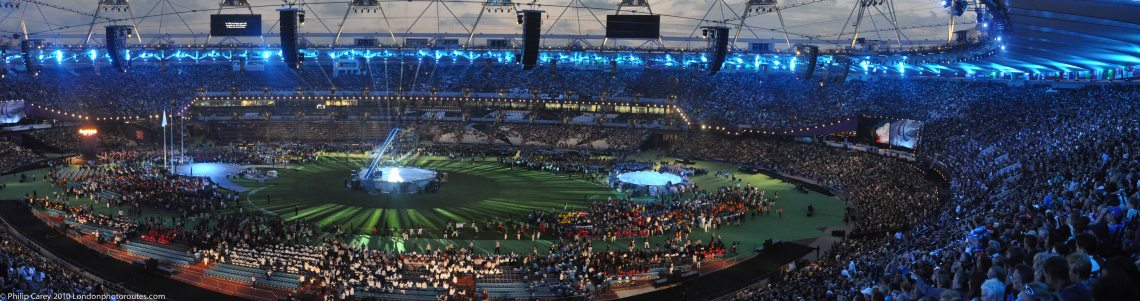 Stadium before the start of the closing ceremony
