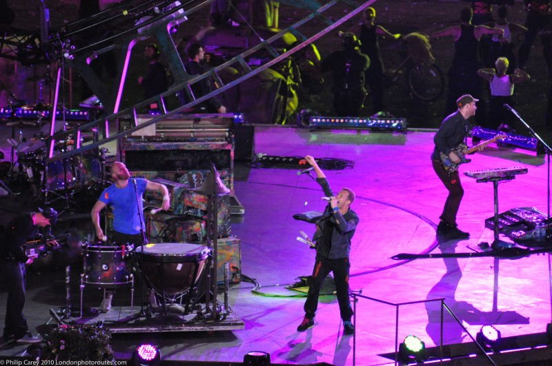 Coldplay during Summer set