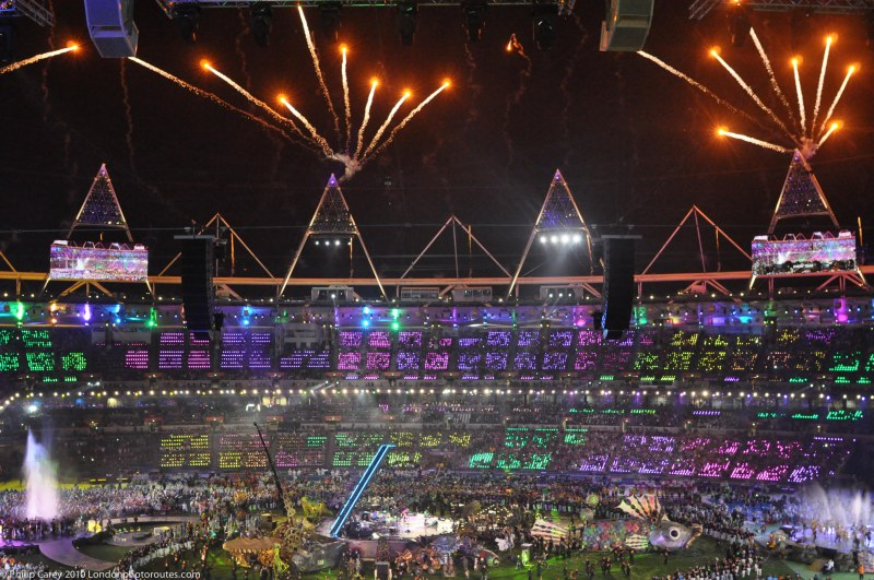 Start of the Closing Ceremony Fireworks
