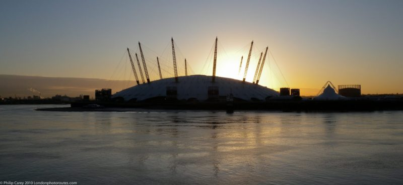 O2 Arena from Blackwell - Morning