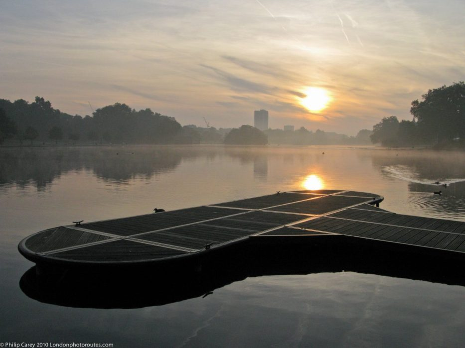 London Runs and Photo Routes - Serpentine - Hyde Park - Sunrise