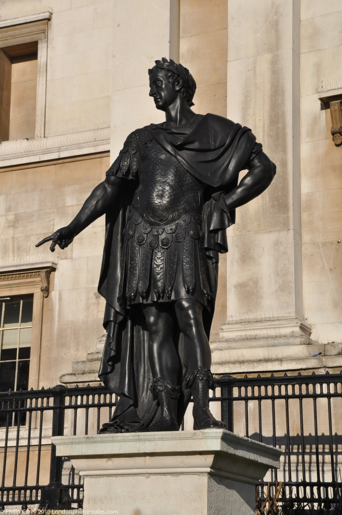 King James outside the National Gallery