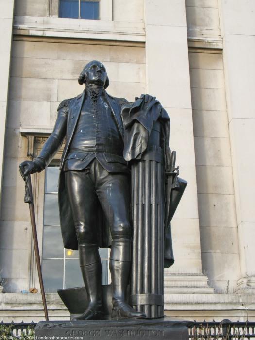 George Washington outside the National Gallery