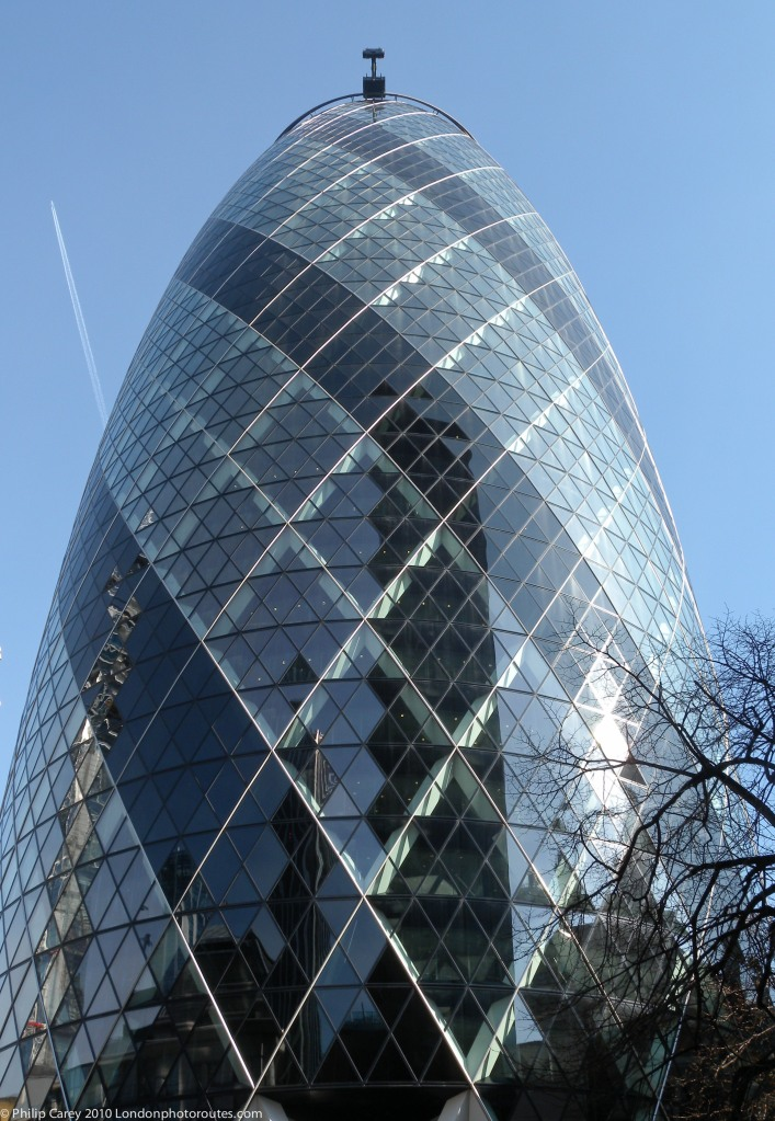 View of the Gherkin 30 St Mary's Axe