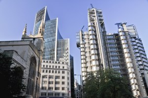Lloyds of London and surrounding buildings