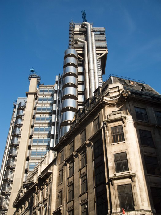 Lloyds of London from Leadenhall Street street
