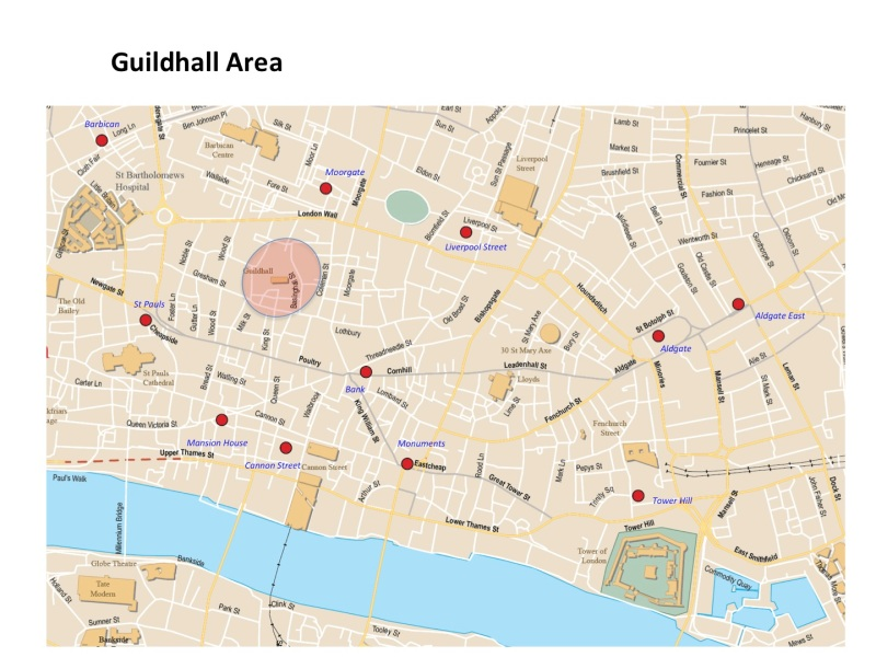 Map Guildhall