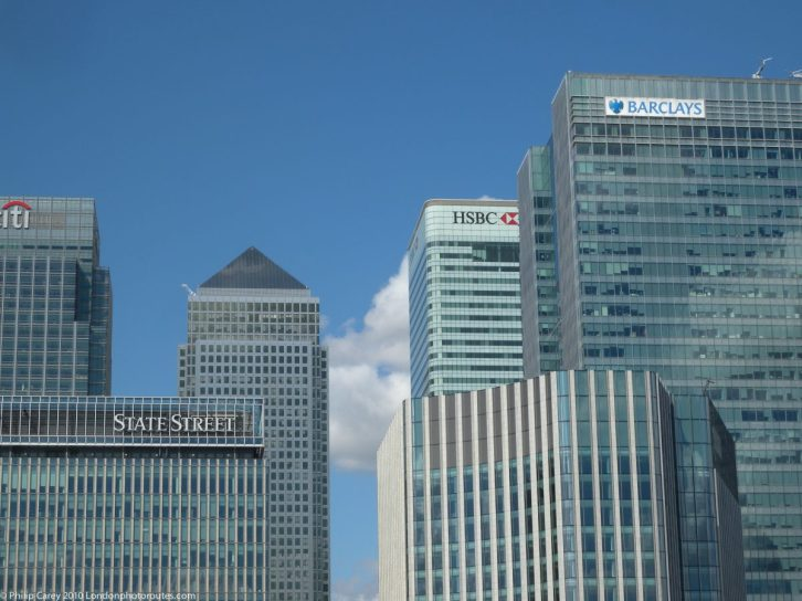London Runs and Photo Routes Canary Wharf Buildings
