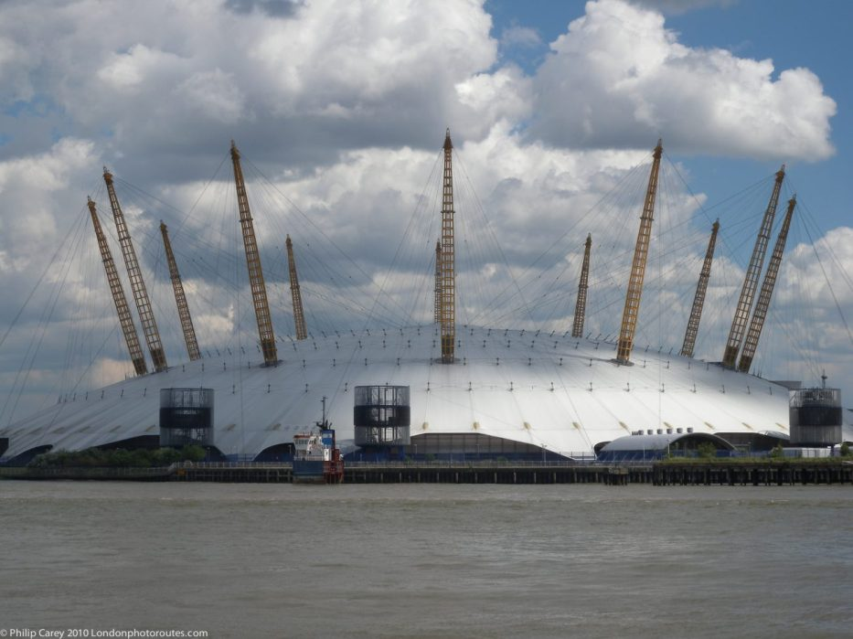 London Runs and Photo Routes - The O2 Dome from the Gun Pub