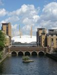 London Runs and Photo Routes - View of O2 / Dome from within Blackwell Basin