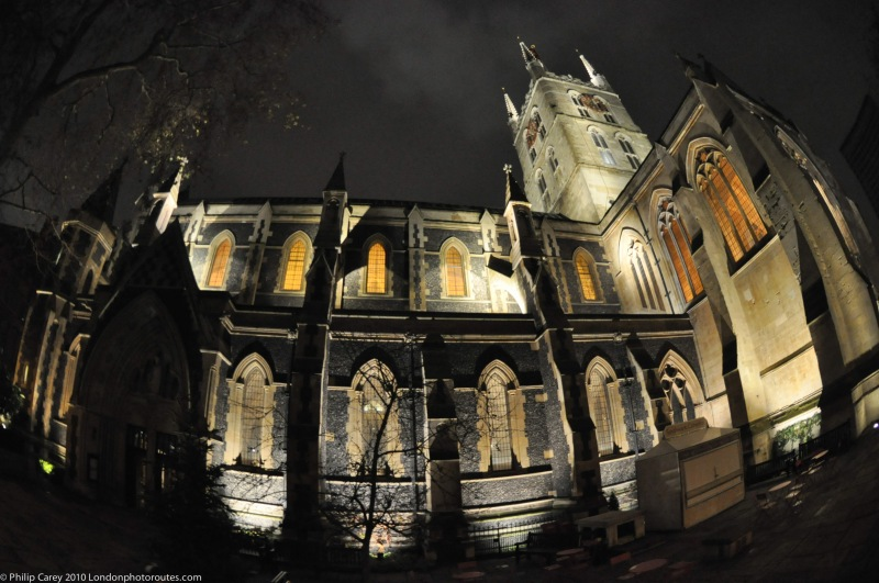Southwark cathedral at Night