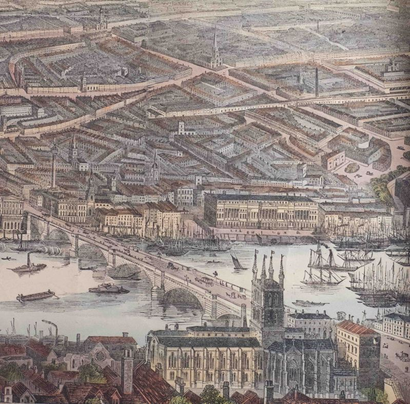 Southwark cathedral in 1845 - The times of Charles Dickens