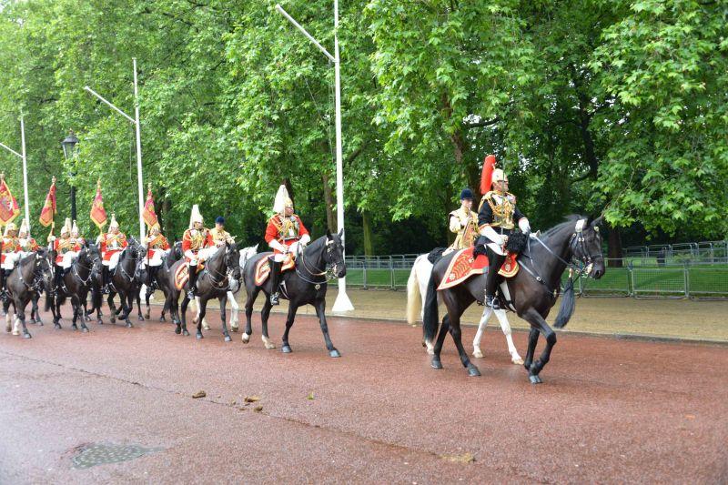 Household Calvary Standard Parade - Regimental Commanding Officer leave