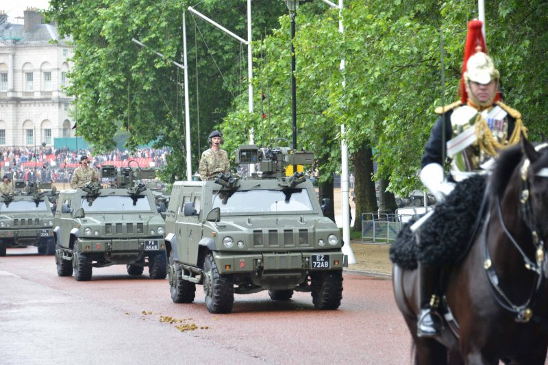 Household Calvary Standard Parade - Armoured Division leave