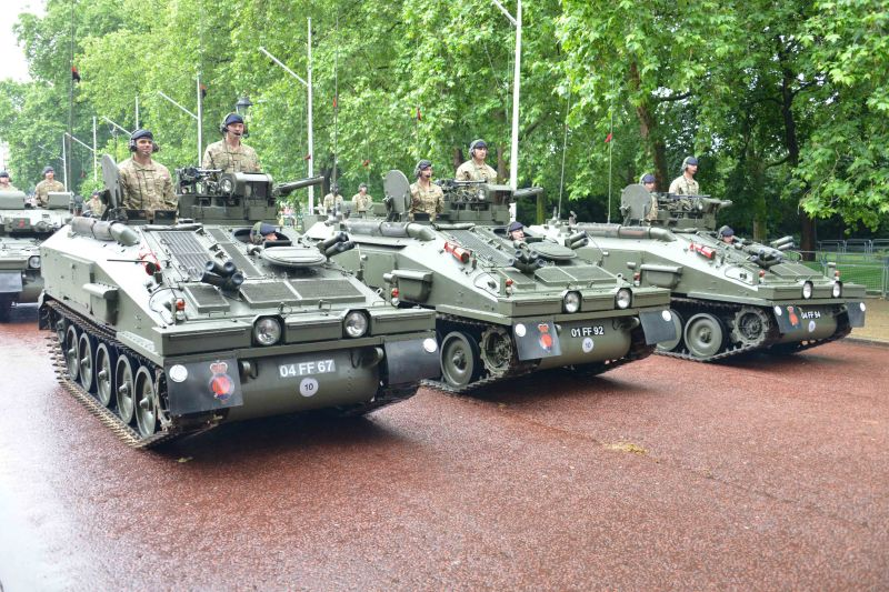 Household Calvary Standard Parade - Armoured Division leave 2