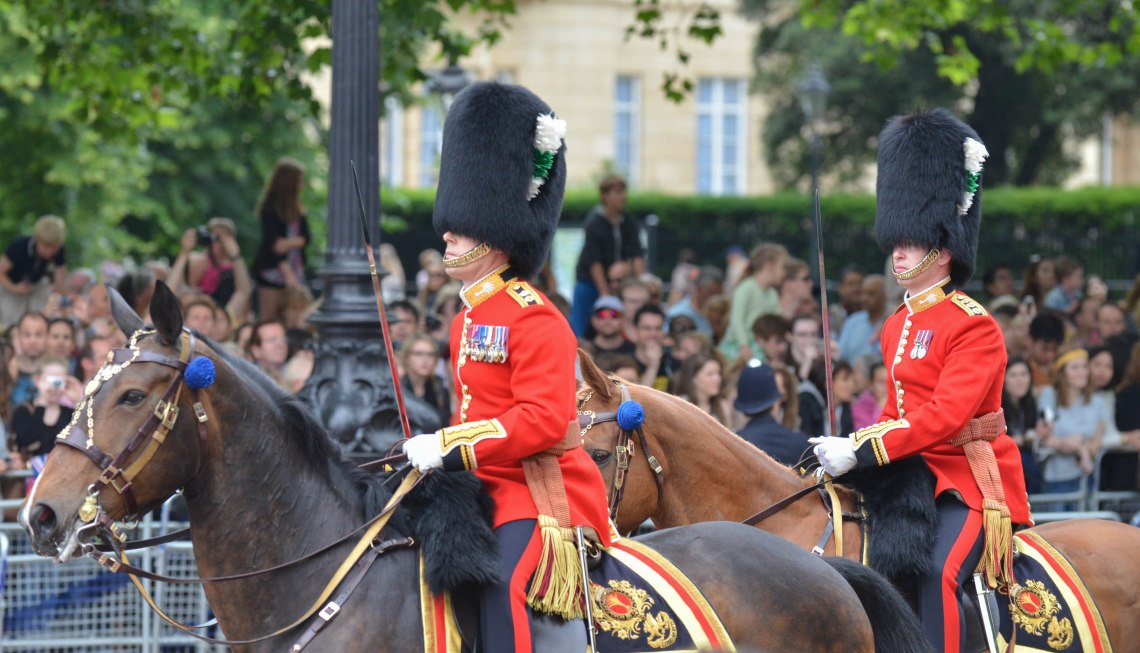Welsh Guards Colonel on Horseback outside Buckingham Palace