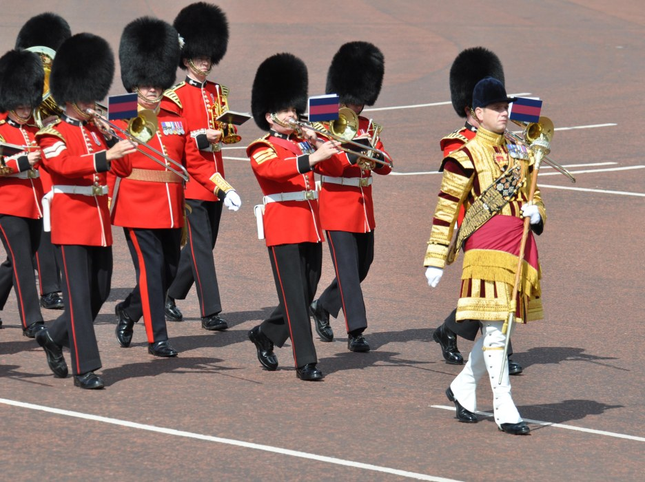 Guards Band outside Buckingham Palace