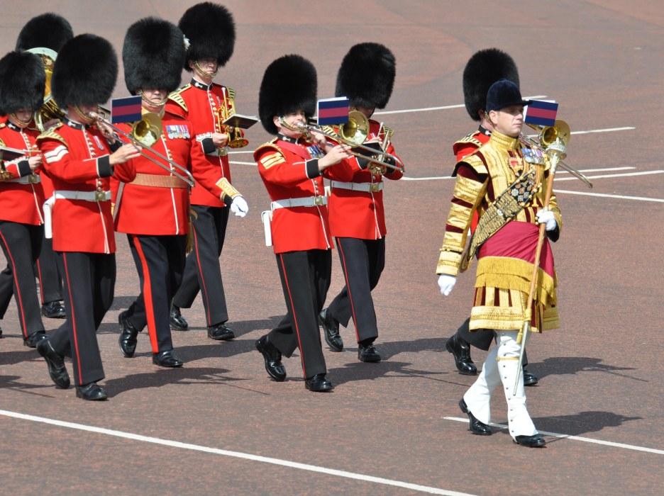Guards Band outside Buckingham Palace