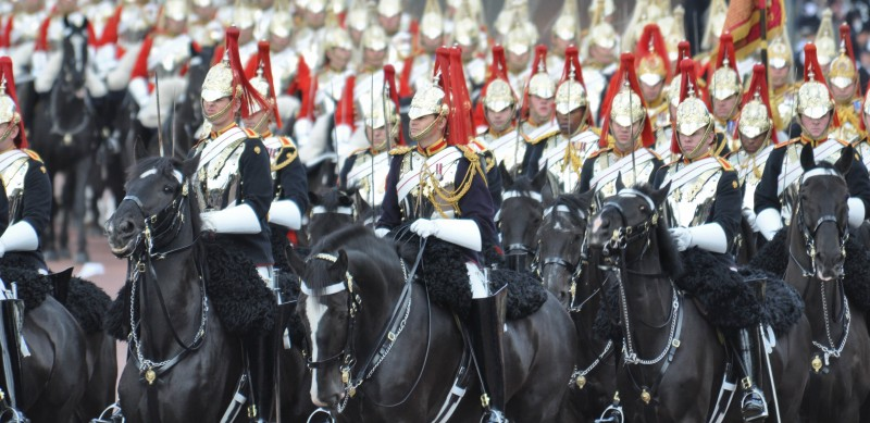 Queens Escort Blues and Royals Household Cavalry
