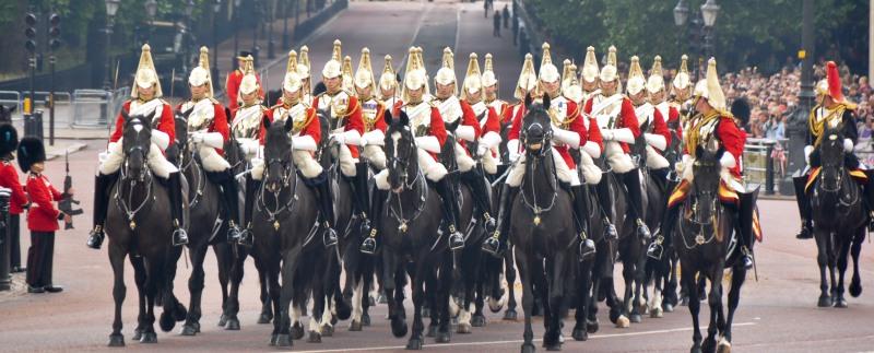 Queens Escort Life Guards Household Cavalry