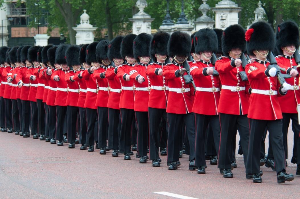 Guards Marching outside Buckingham Palace