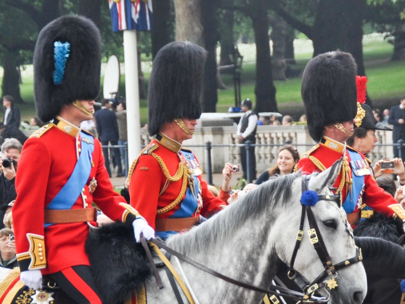Prince Charles, Prince William, and Princess Anne