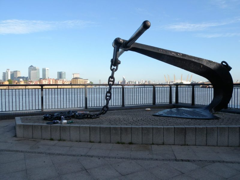 London Runs and Photo Routes - View towards the O2 from the Cutty Sark Pub in Greenwich
