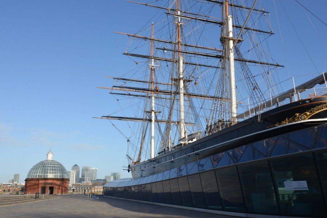 London Runs and Photo Routes - View towards Docklands from the Cutty Sark