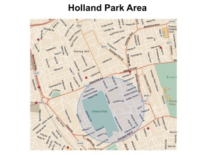 Holland Park map