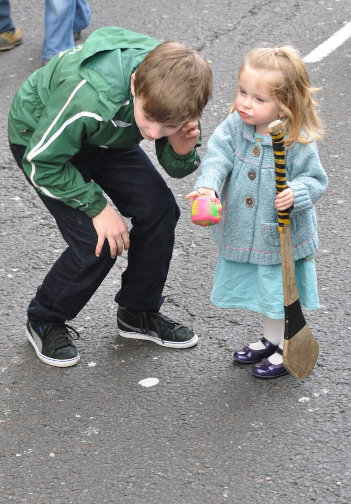 St Patrick Day Parade - Young Hurlings sticks