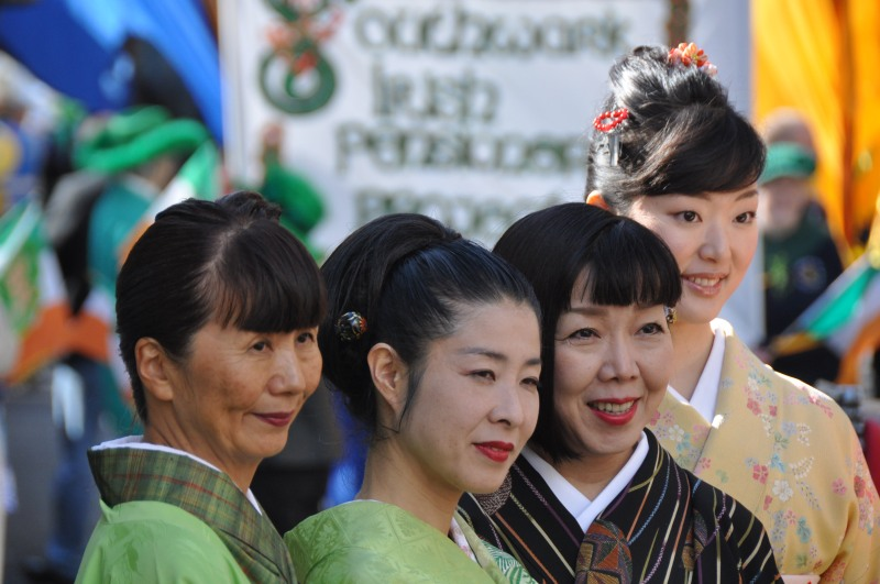 St Patrick Day Parade - Japanese Supporters