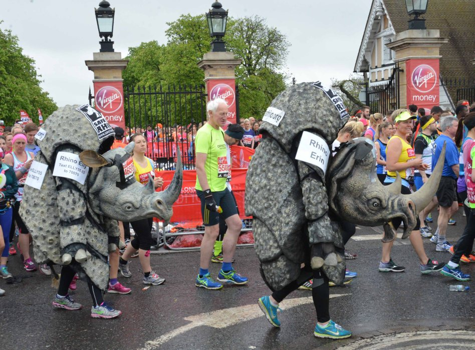 Fancy Dress runner London Marathon