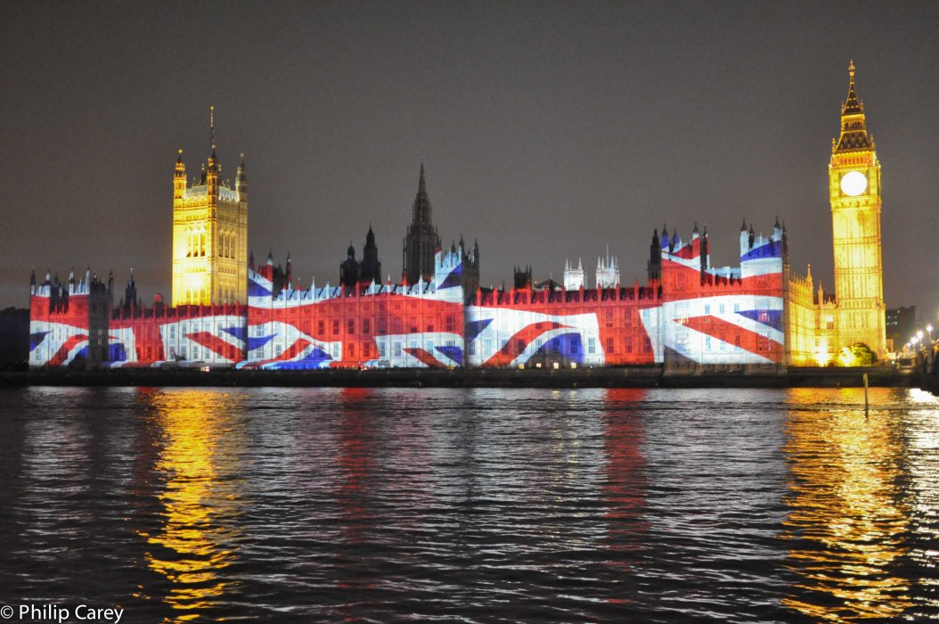 The Union Jack and the Houses of Parliament
